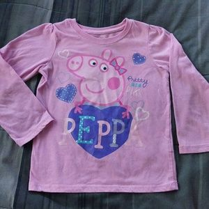 Peppa Pig (Sz 5T) Long Sleeves Shirt
